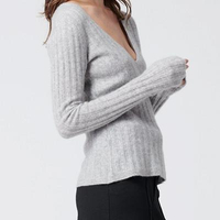 Cashmere Scoop Sweater Cement